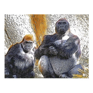 Gorillas, Any Occasions_ Postcard