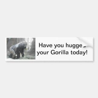 gorillas car bumper sticker