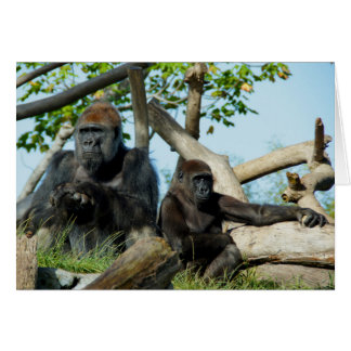 Gorillas in Thought Blank Card