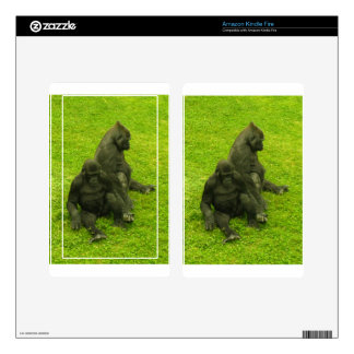 Gorillas of Africa,primates, photography Skins For Kindle Fire