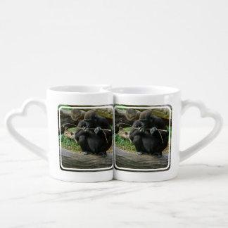 Gorillas Couples' Coffee Mug Set