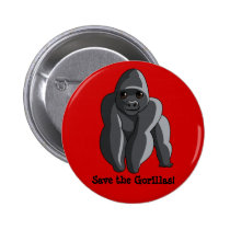 Gorillas Pinback Button