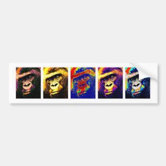 Gorillas Pop Art Bumper Stickers