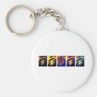 Gorillas Pop Art Keychain