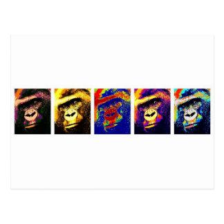 Gorillas Pop Art Postcard