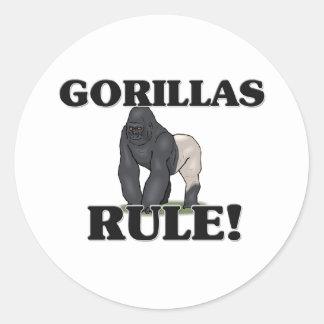 GORILLAS Rule! Classic Round Sticker