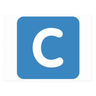 Gorjeo del emoji de la letra C Postales