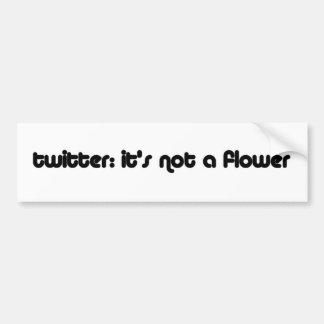 gorjeo no una flor pegatina para auto