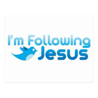Gorjeo yo estoy siguiendo Jesucristo Postales