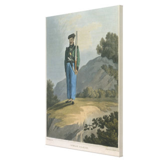 Gorkah Soldier, from 'Journal of a Route Across In Canvas Print