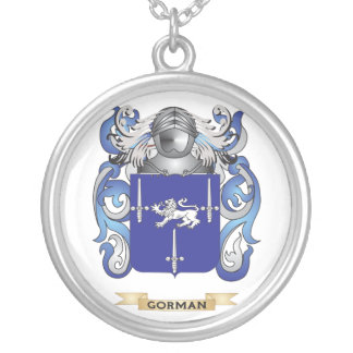 Gorman Coat of Arms (Family Crest) Silver Plated Necklace