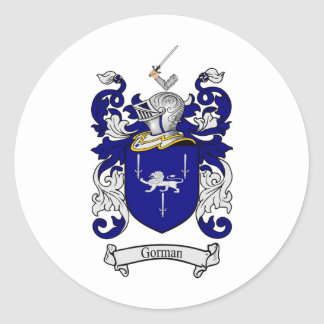 GORMAN FAMILY CREST -  GORMAN COAT OF ARMS CLASSIC ROUND STICKER