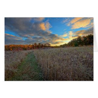 Gorman N C Autumn Sunrise Card