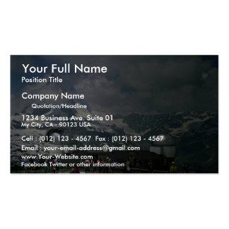 Gorner Grat Observatory and Matterhorn in cloud, S Business Card