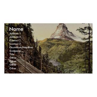 Gornergrat Railway and Matterhorn, Valais, Alps of Business Card Template