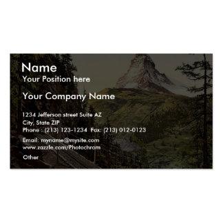 Gornergrat Railway and Matterhorn, Valais, Alps of Business Cards