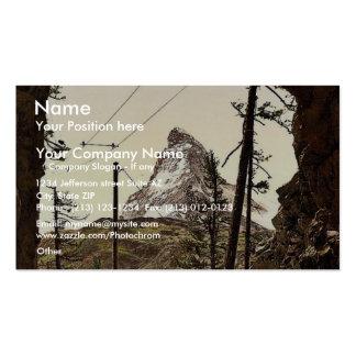 Gornergrat Railway, the Matterhorn from the tunnel Business Card Templates