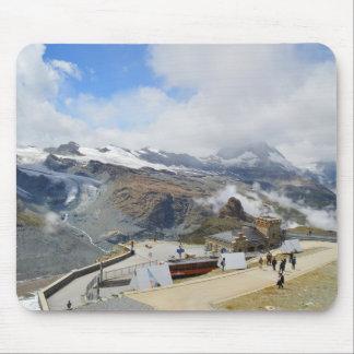 Gornergrat station in Switzerland Mouse Pad