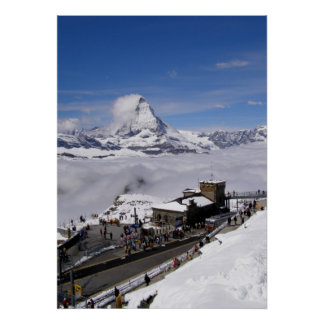 Gornergrat Station in Switzerland Poster