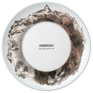 GORNERGRAT Swiss Alps Panorama 360° Dinner Plate