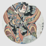 Goro de Yanone por Torii, Kiyomitsu II Ukiyoe Pegatina Redonda
