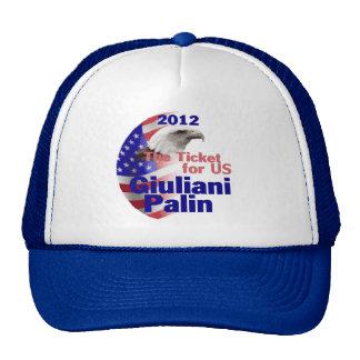 Gorra 2012 de Giuliani Palin