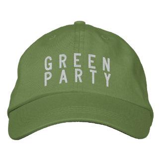 Gorra 2016 del Partido Verde Gorra De Béisbol Bordada