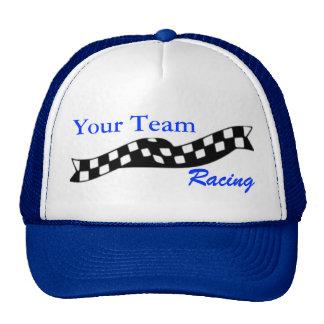 Gorra a cuadros del equipo de la raza de la redada