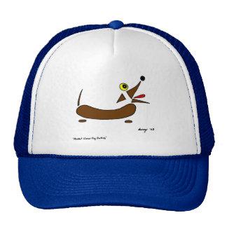 Gorra abstracto del perro de la salchicha de Frank
