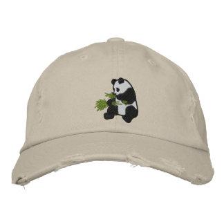 Gorra adaptable adorable de la panda gorro bordado