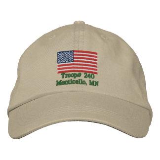 Gorra adaptable de la tropa gorra bordada