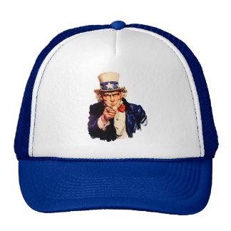 Gorra adaptable del tío Sam - (añada su propio tex