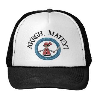 Gorra afable del camionero del muchacho del pirata