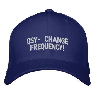 Gorra aficionado de la radio QSY Gorras De Béisbol Bordadas