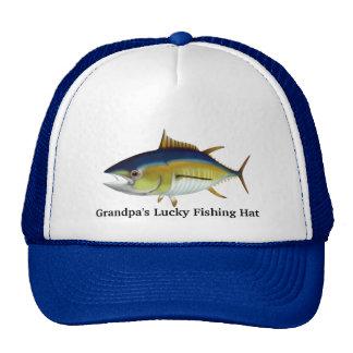 Gorra afortunado de la pesca del abuelo