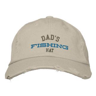 Gorra afortunado del bordado de la pesca del papá gorra bordada