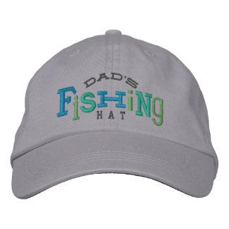 Gorra afortunado del bordado de la pesca del papá gorras bordadas