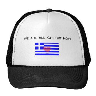"""Gorra """"ahora somos todos los Griegos """""""