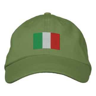 Gorra ajustable bordado bandera de Italia Gorro Bordado