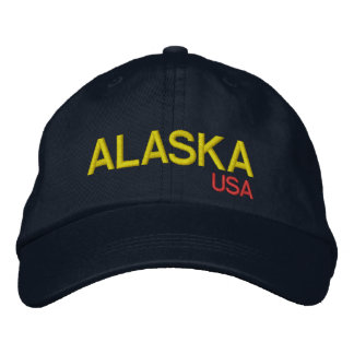 Gorra ajustable de Alaska* los E.E.U.U. Gorras De Beisbol Bordadas