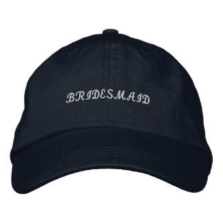 Gorra ajustable de la dama de honor de los azules  gorra de béisbol bordada