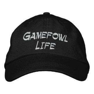 Gorra ajustable de la vida de Gamefowl Gorra Bordada