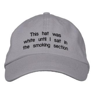"""Gorra ajustable de la """"zona de fumadores"""" gorras de béisbol bordadas"""