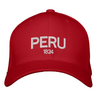 Gorra ajustable de Perú 1824 Gorra De Beisbol Bordada