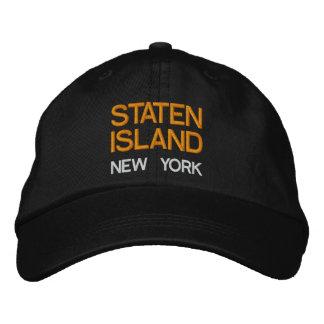 Gorra ajustable de Staten Island* Nueva York Gorros Bordados
