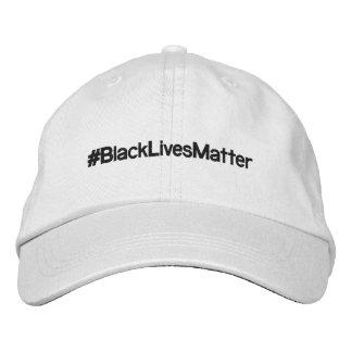 Gorra ajustable del #BlackLivesMatter Gorra Bordada