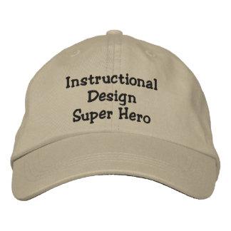 Gorra ajustable del diseñador educacional gorras de beisbol bordadas
