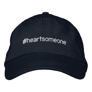 Gorra ajustable del #HEARTSOMEONE de la marina de Gorra Bordada
