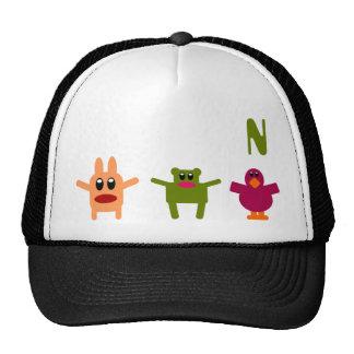 Gorra ajustable N del monograma de lúpulo de los m