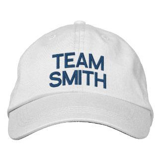 Gorra ajustable personalizado fiesta nupcial gorra de béisbol bordada